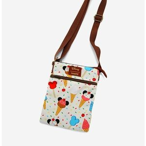 Loungefly Mickey icecream passport bag